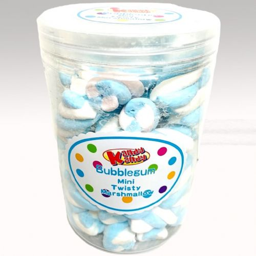 BUBBLEGUM MINI TWISTY MARSHMALLOW 150G